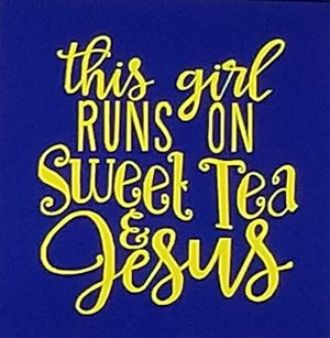 This girl runs on sweet tea and Jesus shirt for Sale in Florence, MS