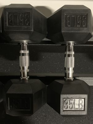 35 lb rubber dumbbells for Sale in Woodland, CA