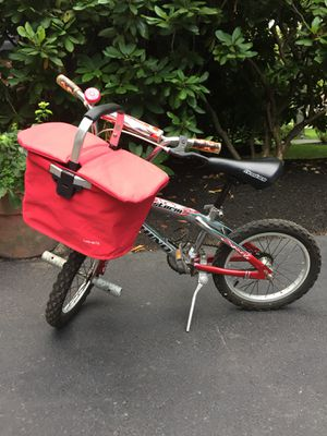 Kids Child Red Bike Bicycle with Basket for Sale in Boston, MA