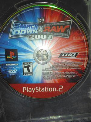 Smack down vs raw 2007 PS2 for Sale in Lake Alfred, FL