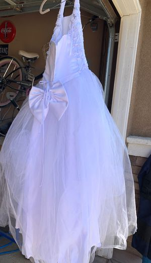 Flower girl dress first communion Size 14 for girls for Sale in Perris, CA