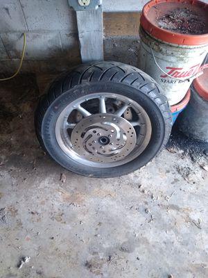 Stock front wheel off of a 05 Roadglide for Sale in Leavenworth, WA