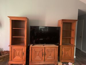 Brown tv stand for Sale in Arlington, TX