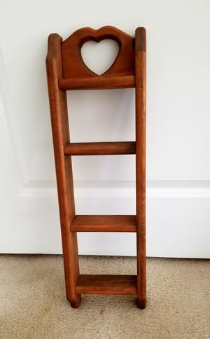 Country Pine Heart Design Wall Shelf for Sale in Gaithersburg, MD