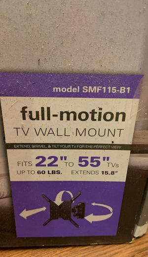 sanus full motion tv wall mount It's 22 inch to 55 inch TVs up to 60 pounds for Sale in Manassas, VA