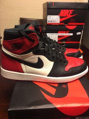 Nike Air Jordan 1 Bred Toe Size 12 for Sale in Austin, TX