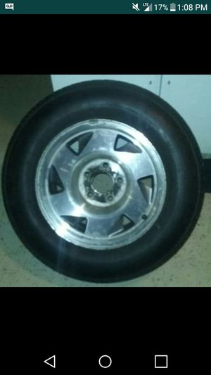 Chevy blazer gmc jimmy rims and new tires (only 2) $120 for Sale in Chicago, IL