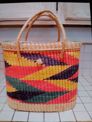 Huge Hand Woven Tote Bag for Sale in Pomona, CA