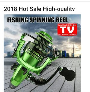 Green fishing spinning reel new never used for Sale in Woodburn, OR