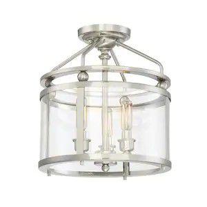Ceiling fixture, 3 light semi flushmount, chandelier for Sale in Philadelphia, PA