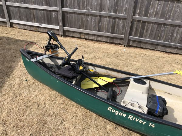 14ft Canoe with Motor for Sale in Greenville, WI - OfferUp