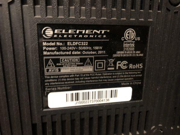Element 32 inch flatscreen tv