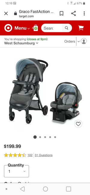 NEW Graco Baby Fast action SE Travel System Stroller and Car Seat for Sale in Schaumburg, IL