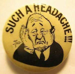 Tokio Cigarettes Antique Pin- Such A Headache Great Cond - Early 1900's Rare for Sale in Lake Elsinore, CA
