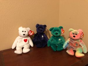 Hard to find ty beanie babies $5 each for Sale in Katy, TX