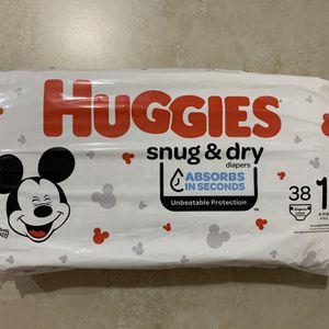 Huggies Diapers Size 1 each bag $7 for Sale in Las Vegas, NV