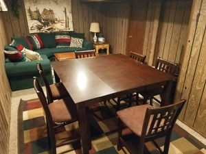 Tall Dinning table with 6 chairs for Sale in Denver, CO
