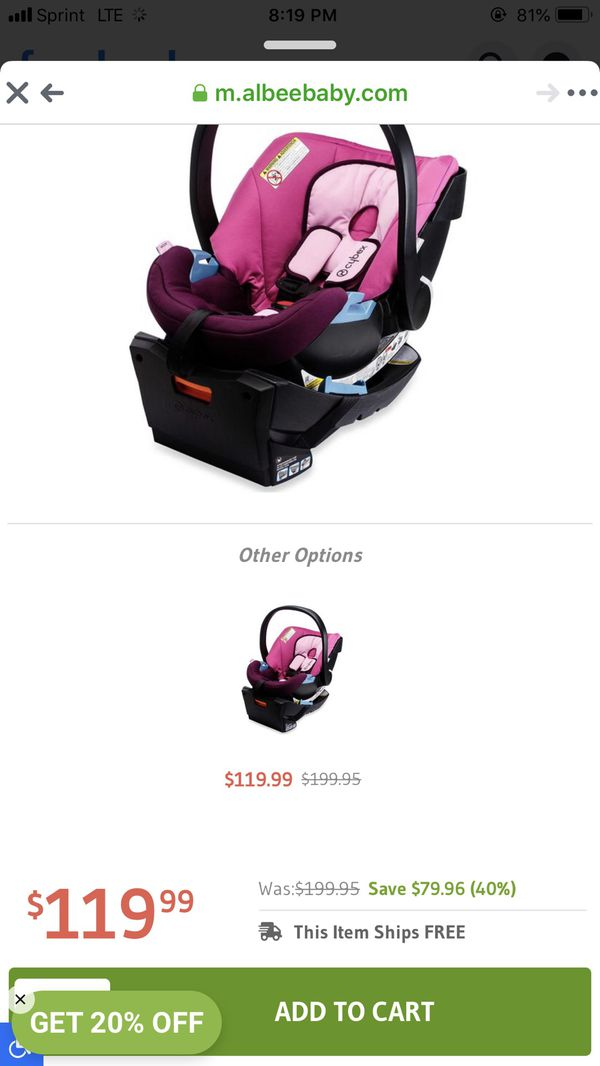 Cybex Aton Infant Car Seat 2016