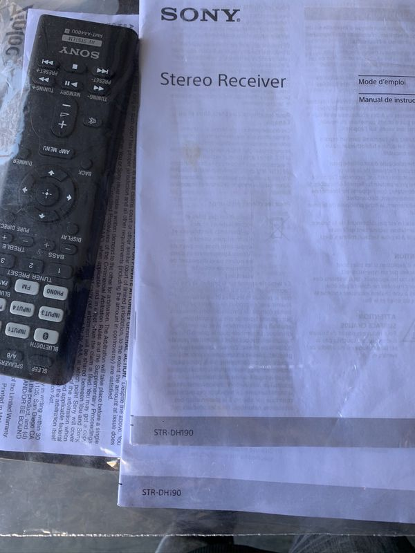 Sony stereo receiver 2ch/ Bluetooth/ works good (LCD screen dos not turn on ) stereo still works sold as is