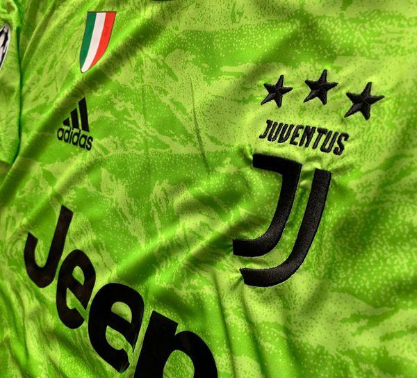 Buffon #1 - Juventus Soccer Team - Brand New Men's Champions League 2019 / 2020 Goalkeeper Green Soccer Jersey - Size M and L