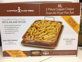 Copper Chef 2 piece air fry cooking pan for Sale in Waxahachie,  TX