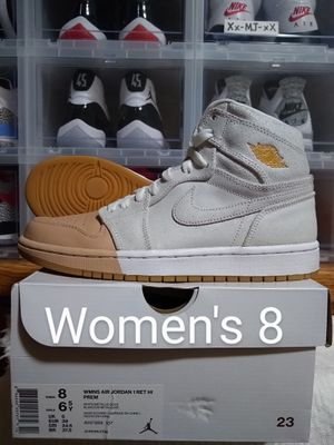 """2018 Air JORDAN 1 Retro High """"Dip-Toe"""" White Metallic Gold Womens Size 8 or Youth Mens Size 6.5 y US - DS OG All for Sale in Everett, WA"""