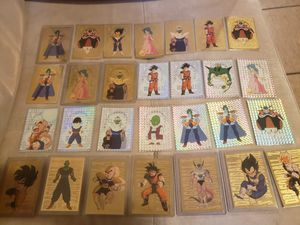 62 Dragon Ball Z cards (ultra rares, gold, and prism) for Sale in Eustis, FL