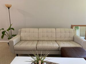 White leather couch for Sale in Humble, TX
