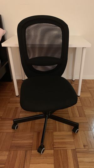 Table, computer chair, and mirror for Sale in Washington, DC