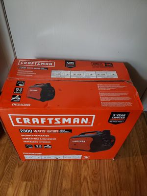 Brand new Craftsman CMXGIAC3000 2300 Watts Portable Inverter Generator for Sale in Las Vegas, NV