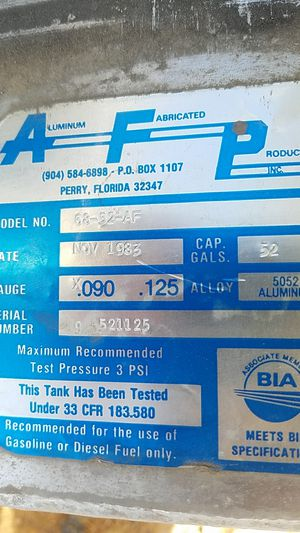 AFP marine gas tank for Sale in Apache Junction, AZ
