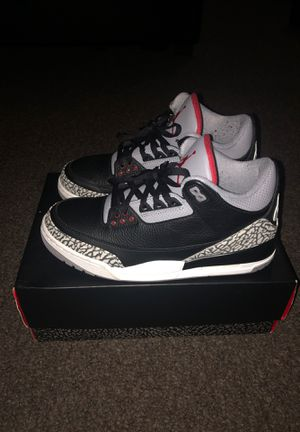 Jordan 3 Black cement ! for Sale in Washington, DC
