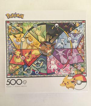 Buffalo Games Pokemon Eevee Evolutions 500 Piece Puzzle for Sale in Murrieta, CA
