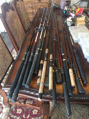 Fishing rods $20 each or 6 for $100 firm for Sale in Hendersonville, TN