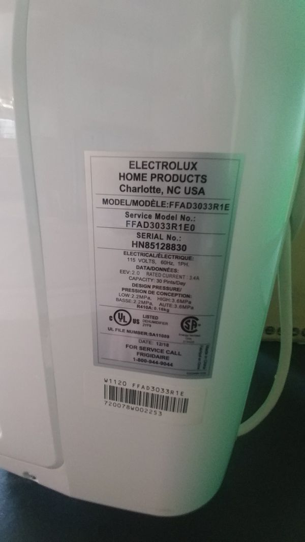 Frigidaire 30pt Dehumidifier with Effortless Climate Comtrol