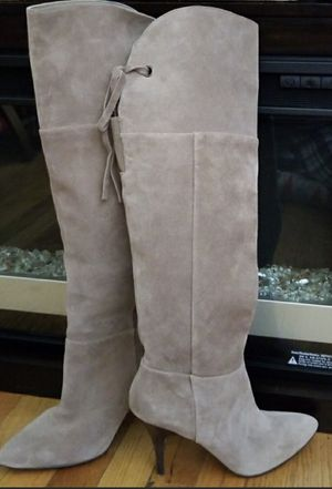 Knee high suede tan suede boots, 9 M for Sale in Silver Spring, MD