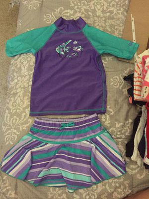 Purple swim suit kid size 7 for Sale in Poway, CA