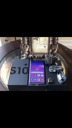 PRICE IS FIRM!!! UNDER WARRANTY SAMSUNG GALAXY S10PLUS 128GB FACTORY UNLOCKED EXCELLENT CONDITION for Sale in Chicago, IL