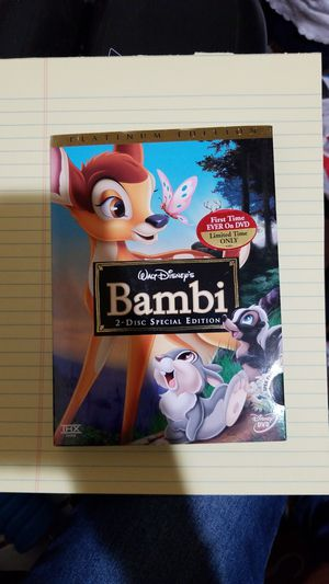 Bambi Platinum Edition DVD for Sale in Los Angeles, CA