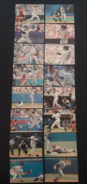 1995 Post Collector Series 16 Player Set - Baseball Cards - Griffey - Boggs - Maddux - Puckett - Bonds - Ripken - Big Hurt for Sale in Granite Falls, WA