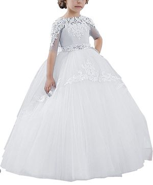 Flower Girls Long First Communion Dresses Kids Pageant Prom 7 years old size for Sale in Everett, MA