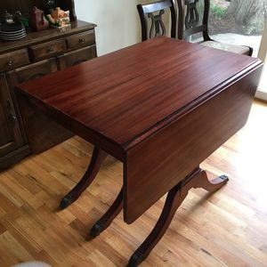Vintage Solid Wood Dining Table for Sale in Seattle, WA