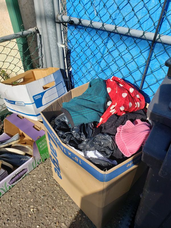 FREE CLOTHES AND SHOES 444 S.13 st Grover Beach on sidewalk