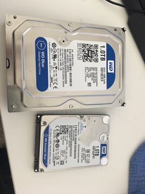 1TB Sata hard drives - laptop and desktop for Sale in Denton, TX