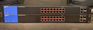 Linksys 18-Port Smart Gigabit Switch (LGS318) Set of 2 Bundle for Sale in Baldwin, NY