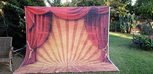 New vintage circus stage backdrop 10ftx10ft for Sale in Whittier, CA