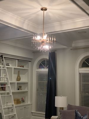 Gorgeous Brand New Brass and Acrylic Chandelier for Sale in Atlanta, GA