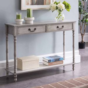 K&B Furniture Rustic 2 Drawer Console Table. A15-9479 for Sale in St. Louis, MO