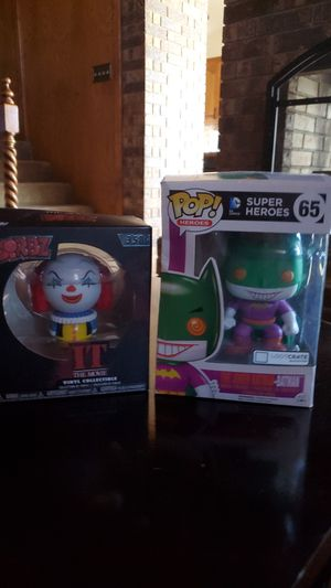 Funkopop - joker , Dorbz Pennywise action figures for Sale in Abilene, TX