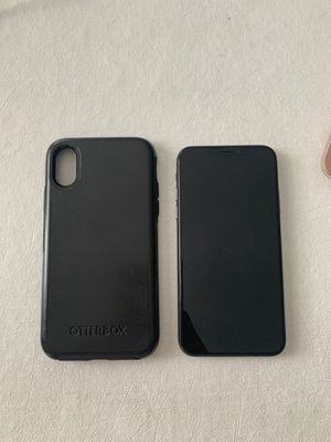 Unlocked iPhone X - 256GB - with black Otterbox for Sale in Coraopolis, PA